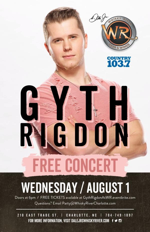 FREE Gyth Rigdon Concert @Whisky River presented by Country 103.7