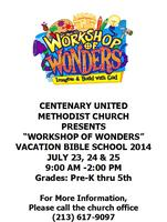 Workshop of Wonders (WOW) Vacation Bible School in...