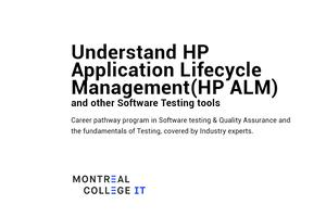 Understand HP Application Life cycle Management & Software Testing