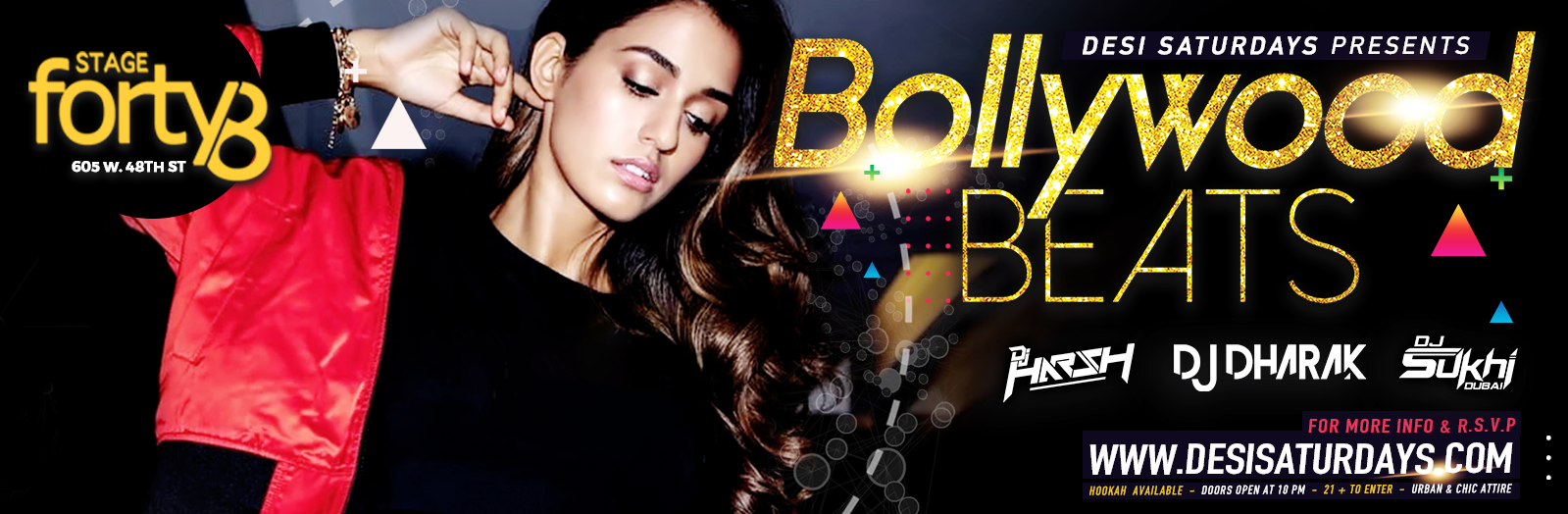 DESI PARTY IN THE CITY - WEEKLY SATURDAY NIGHT BOLLYWOOD PARTY @ STAGE48