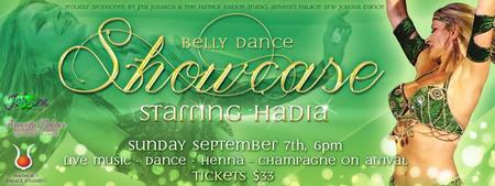 Belly Dance Showcase - Starring HADIA from Canada