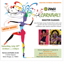 Baton Rouge Carnival! Master Classes - Zumba Fitness
