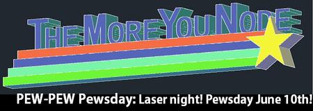 Pew-Pew Pewsday - Laser Night at the Baltimore Node