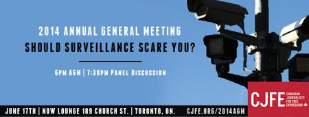 CJFE Panel Discussion: Should Surveillance Scare You?