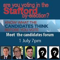 Meet your Candidates Forum for the Stafford by-election