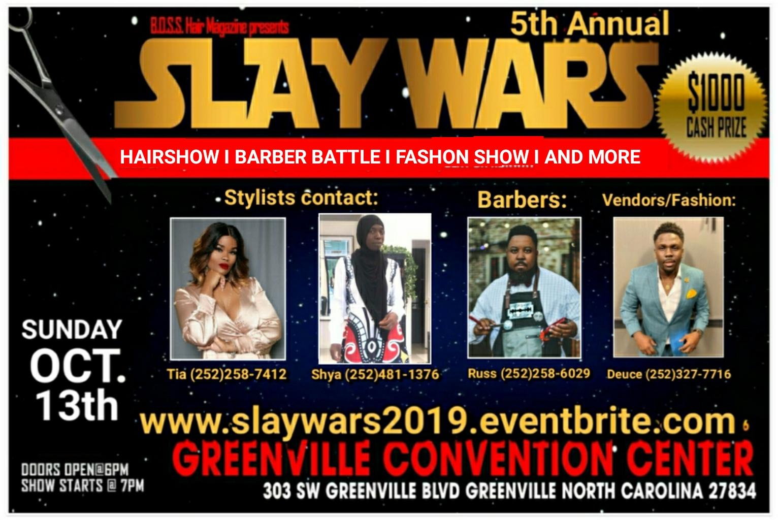 Slay Wars Hair Show & Barber Battle Tickets, Sun, Oct 13