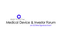 Medical Device & Investor Forum 2014