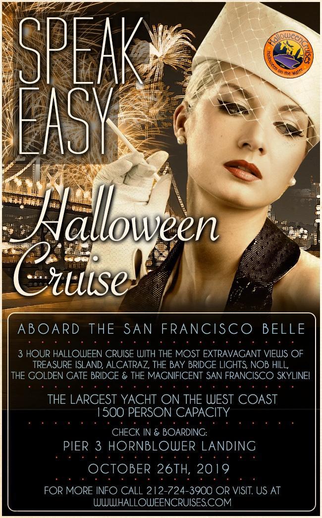 Speakeasy Halloween Party Cruise Aboard the San Francisco Belle!
