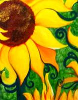 "Creole Canvas - ""Van Gogh's Flower"" (SOLD OUT)"