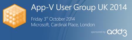 App-V User Group UK 2014