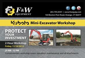 Kubota Mini Excavator Workshop