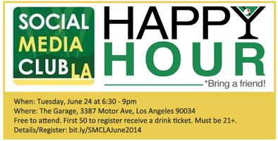 """SMCLA Presents """"Summer Happy Hour"""" at The Garage"""