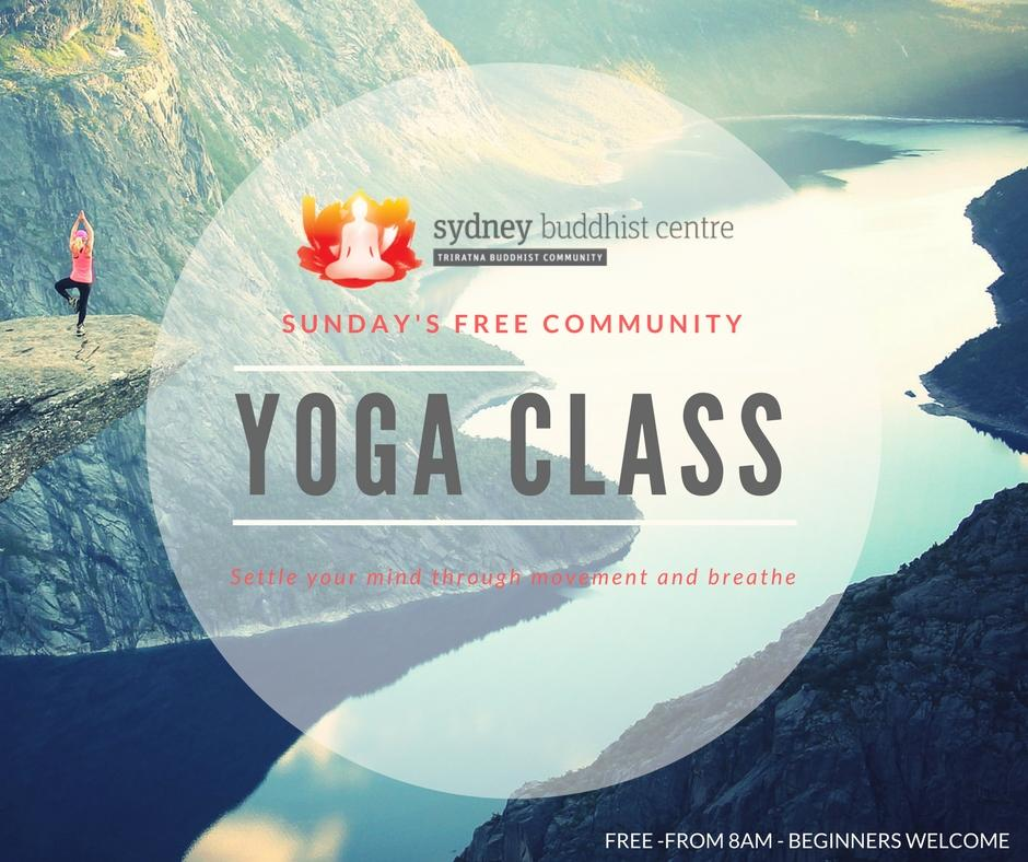 Yoga Class at the Sydney Buddhist Centre