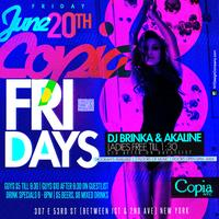"""Friday Afterwork Party at Copia- Ladies Free on """"The..."""
