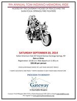 9th Annual Tom Indiano Memorial Ride