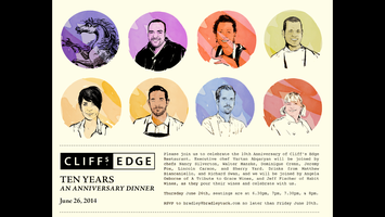 Cliff's Edge 10 Year Anniversary Dinner