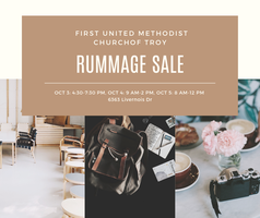 Troy First UMC Rummage Sale Tickets, Thu, Oct 3, 2019 at 4:30 PM