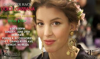Designer Hack: Dolce & Gabbana Coin Earrings