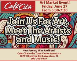 FREE Art and Music Event at Cafe-Cita of Aventura