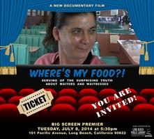 """Where's My Food?!"" Documentary Big Screen Premier!..."