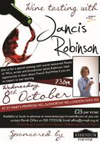 Wine tasting with Jancis Robinson