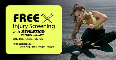 FREE Injury Screening with Athletico - Fishers, IN Tickets, Mon, Aug
