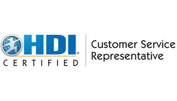 HDI Customer Service Representative 2 Days Training in Ottawa