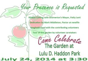 Lulu D. Haddon Park Ribbon Cutting