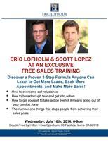 Free Sales Training, Eric Lofholm & Scott Lopez