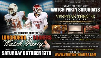 """TEXAS vs OKLAHOMA """"STATE OF THE ART"""" WATCH PARTY..."""
