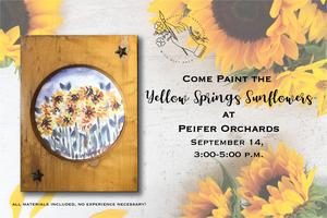 Paint the Yellow Springs Sunflowers