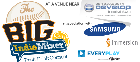 PG's Big Indie Mixer ★ Develop ★ Samsung, Immersion,...