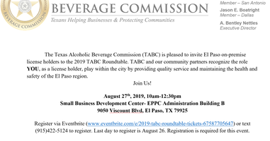 2019 Texas Alcoholic Beverage Commission Roundtable-...