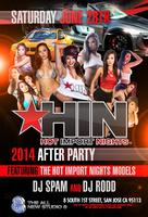 Hot Import Nights FREE BEFORE 10PM
