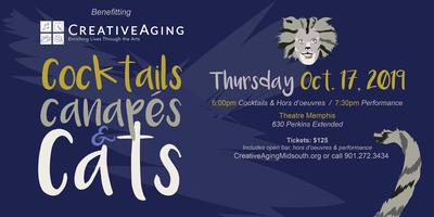 Creative Aging's Cocktails, Canapes & Cats