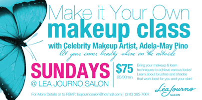 Make it Your Own Makeup Class with Adela-May Pino