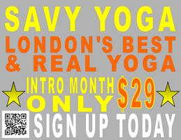 London's Best Yoga at $29 for Intro at SAVY Downtown...
