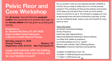 Pelvic Floor & Core Awareness Workshop