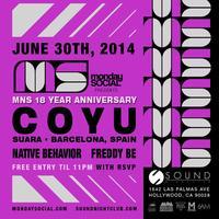 06/30 Monday Social at Sound COYU FREE VIP List.