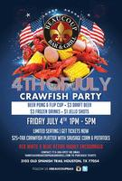 4TH OF JULY CRAWFISH PARTY @ BEAUCOUP