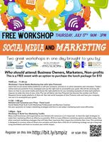 FREE SOCIAL MEDIA & MARKETING WORKSHOP!!
