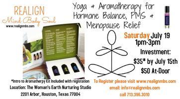 Yoga & Aromatherapy: Hormone Balance, PMS, & Menopause