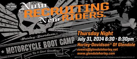 Harley-Davidson of Glendale New Rider Boot Camp