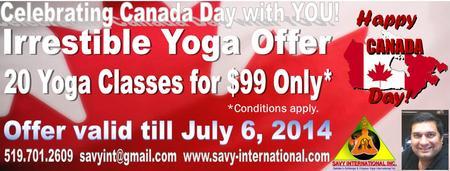 Canada Day Yoga Deal - Happy Canada Day!