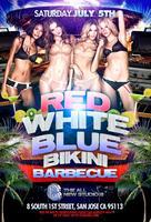 RED WHITE AND BLUE BIKINI BARBECUE