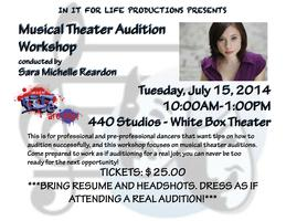 Musical Theater Audition Workshop with Sara Michelle Re...