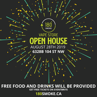 180 Smoke Vape Store - Open House Tickets, Wed, 28 Aug 2019 at 9:00