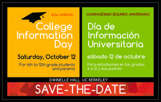 42nd Annual College Information Day Registration, Sat, Oct