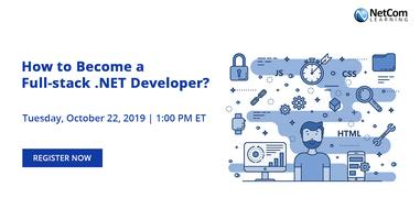 Webinar - How to Become a Full-stack  NET Developer? Tickets, Tue
