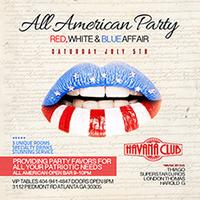 All American Party: Saturday July 5 at Havana Club